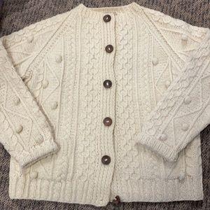Vintage Irish Wool Fisherman Cardigan x large